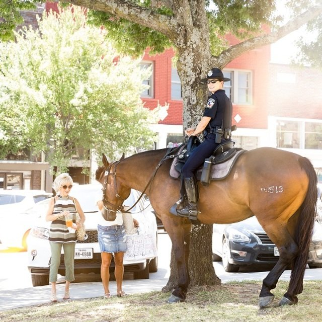 Downtown McKinney Mounted Police